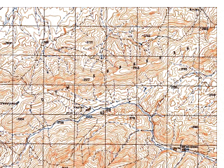 Reduced fragment of topographic map ru--gs--050k--i41-080-4--N033-50_E063-45--N033-40_E064-00