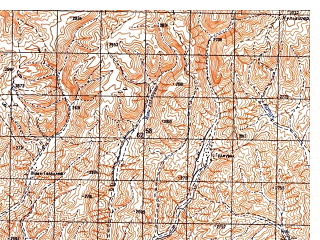 Reduced fragment of topographic map ru--gs--050k--i41-082-1--N034-00_E064-30--N033-50_E064-45