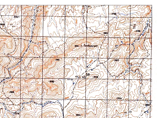 Reduced fragment of topographic map ru--gs--050k--i41-082-3--N033-50_E064-30--N033-40_E064-45