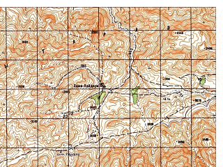 Reduced fragment of topographic map ru--gs--050k--i41-090-1--N033-40_E062-30--N033-30_E062-45