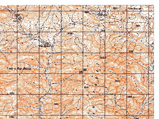 Reduced fragment of topographic map ru--gs--050k--i41-091-3--N033-30_E063-00--N033-20_E063-15