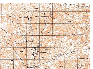 Reduced fragment of topographic map ru--gs--050k--i41-092-4--N033-30_E063-45--N033-20_E064-00