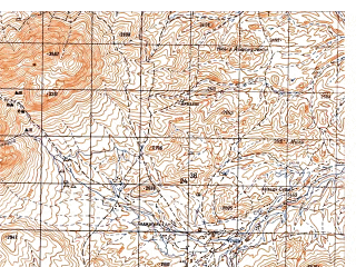 Reduced fragment of topographic map ru--gs--050k--i41-093-2--N033-40_E064-15--N033-30_E064-30