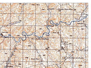Reduced fragment of topographic map ru--gs--050k--i41-093-3--N033-30_E064-00--N033-20_E064-15