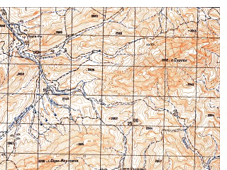 Reduced fragment of topographic map ru--gs--050k--i41-095-1--N033-40_E065-00--N033-30_E065-15