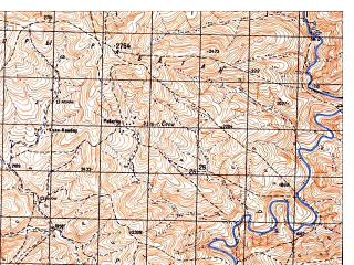 Reduced fragment of topographic map ru--gs--050k--i41-095-2--N033-40_E065-15--N033-30_E065-30