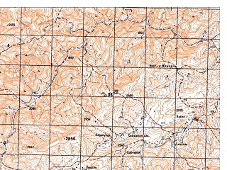 Reduced fragment of topographic map ru--gs--050k--i41-095-4--N033-30_E065-15--N033-20_E065-30