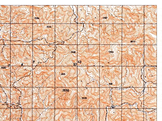 Reduced fragment of topographic map ru--gs--050k--i41-103-2--N033-20_E063-15--N033-10_E063-30