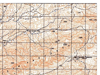 Reduced fragment of topographic map ru--gs--050k--i41-104-1--N033-20_E063-30--N033-10_E063-45