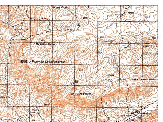 Reduced fragment of topographic map ru--gs--050k--i41-105-2--N033-20_E064-15--N033-10_E064-30