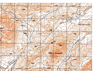 Reduced fragment of topographic map ru--gs--050k--i41-105-4--N033-10_E064-15--N033-00_E064-30