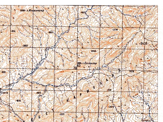 Reduced fragment of topographic map ru--gs--050k--i41-106-4--N033-10_E064-45--N033-00_E065-00