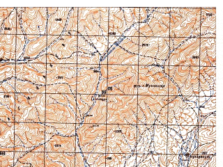 Reduced fragment of topographic map ru--gs--050k--i41-107-1--N033-20_E065-00--N033-10_E065-15
