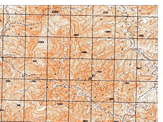 Reduced fragment of topographic map ru--gs--050k--i41-107-3--N033-10_E065-00--N033-00_E065-15; towns and cities Baghran