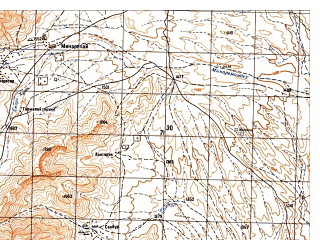 Reduced fragment of topographic map ru--gs--050k--i41-107-4--N033-10_E065-15--N033-00_E065-30