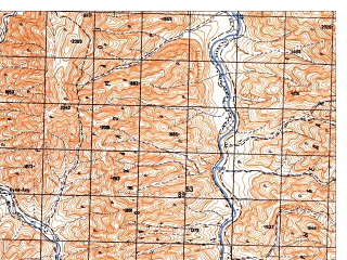 Reduced fragment of topographic map ru--gs--050k--i41-108-1--N033-20_E065-30--N033-10_E065-45
