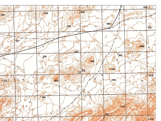 Reduced fragment of topographic map ru--gs--050k--i41-111-1--N033-00_E061-00--N032-50_E061-15