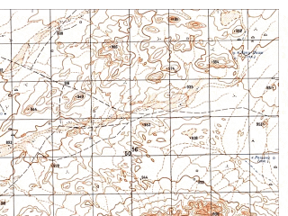 Reduced fragment of topographic map ru--gs--050k--i41-111-2--N033-00_E061-15--N032-50_E061-30