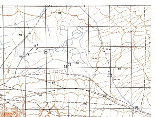 Reduced fragment of topographic map ru--gs--050k--i41-112-3--N032-50_E061-30--N032-40_E061-45; towns and cities Anar Darreh