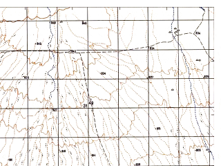 Reduced fragment of topographic map ru--gs--050k--i41-113-4--N032-50_E062-15--N032-40_E062-30