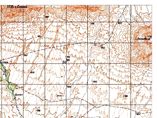 Reduced fragment of topographic map ru--gs--050k--i41-114-2--N033-00_E062-45--N032-50_E063-00