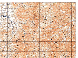 Reduced fragment of topographic map ru--gs--050k--i41-115-1--N033-00_E063-00--N032-50_E063-15