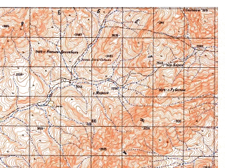 Reduced fragment of topographic map ru--gs--050k--i41-116-1--N033-00_E063-30--N032-50_E063-45