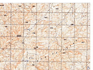 Reduced fragment of topographic map ru--gs--050k--i41-117-2--N033-00_E064-15--N032-50_E064-30