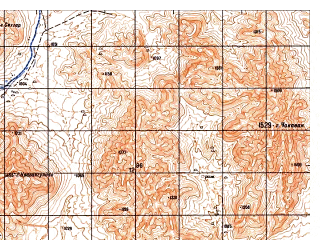 Reduced fragment of topographic map ru--gs--050k--i41-126-2--N032-40_E062-45--N032-30_E063-00