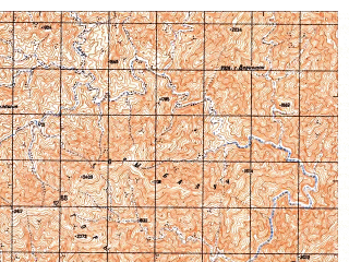 Reduced fragment of topographic map ru--gs--050k--i41-128-2--N032-40_E063-45--N032-30_E064-00