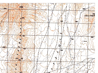 Reduced fragment of topographic map ru--gs--050k--i41-131-3--N032-30_E065-00--N032-20_E065-15