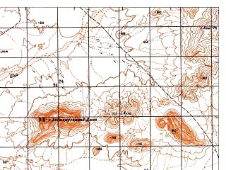 Reduced fragment of topographic map ru--gs--050k--i41-137-3--N032-10_E062-00--N032-00_E062-15