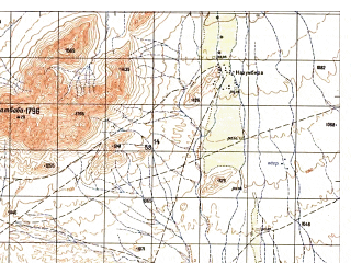 Reduced fragment of topographic map ru--gs--050k--i41-141-3--N032-10_E064-00--N032-00_E064-15