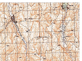 Reduced fragment of topographic map ru--gs--050k--i42-001-3--N035-50_E066-00--N035-40_E066-15
