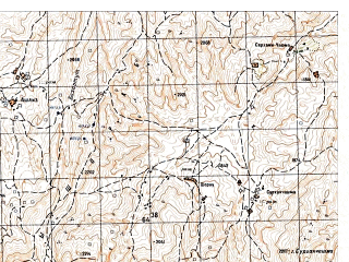 Reduced fragment of topographic map ru--gs--050k--i42-003-3--N035-50_E067-00--N035-40_E067-15