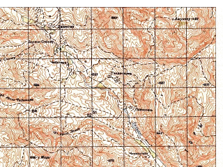 Reduced fragment of topographic map ru--gs--050k--i42-005-2--N036-00_E068-15--N035-50_E068-30
