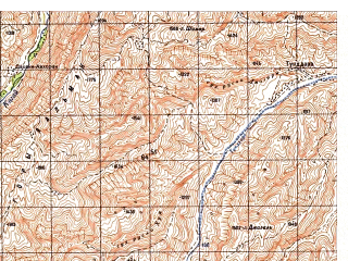 Reduced fragment of topographic map ru--gs--050k--i42-005-4--N035-50_E068-15--N035-40_E068-30