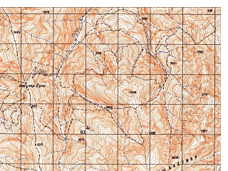 Reduced fragment of topographic map ru--gs--050k--i42-007-4--N035-50_E069-15--N035-40_E069-30