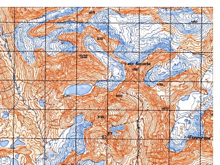 Reduced fragment of topographic map ru--gs--050k--i42-008-4--N035-50_E069-45--N035-40_E070-00