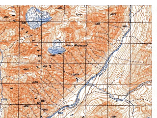 Reduced fragment of topographic map ru--gs--050k--i42-009-3--N035-50_E070-00--N035-40_E070-15