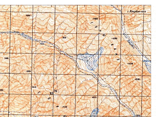 Reduced fragment of topographic map ru--gs--050k--i42-010-2--N036-00_E070-45--N035-50_E071-00; towns and cities Shah-e Pari