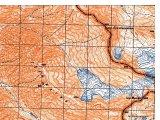 Reduced fragment of topographic map ru--gs--050k--i42-011-4--N035-50_E071-15--N035-40_E071-30