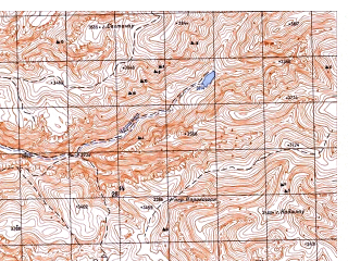 Reduced fragment of topographic map ru--gs--050k--i42-014-4--N035-30_E066-45--N035-20_E067-00; towns and cities Do Shakh