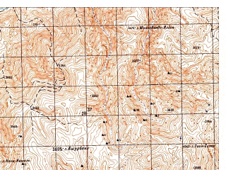 Reduced fragment of topographic map ru--gs--050k--i42-015-3--N035-30_E067-00--N035-20_E067-15