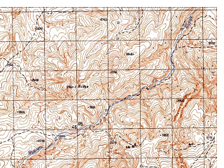 Reduced fragment of topographic map ru--gs--050k--i42-016-2--N035-40_E067-45--N035-30_E068-00