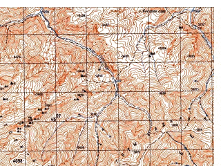 Reduced fragment of topographic map ru--gs--050k--i42-017-1--N035-40_E068-00--N035-30_E068-15