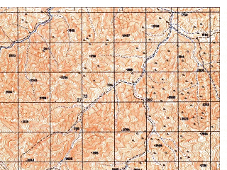Reduced fragment of topographic map ru--gs--050k--i42-018-3--N035-30_E068-30--N035-20_E068-45