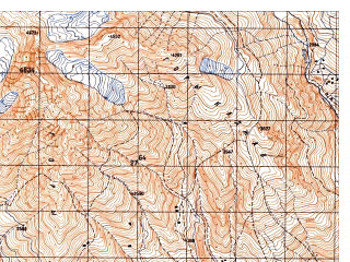 Reduced fragment of topographic map ru--gs--050k--i42-020-3--N035-30_E069-30--N035-20_E069-45