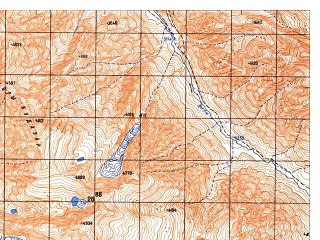 Reduced fragment of topographic map ru--gs--050k--i42-020-4--N035-30_E069-45--N035-20_E070-00