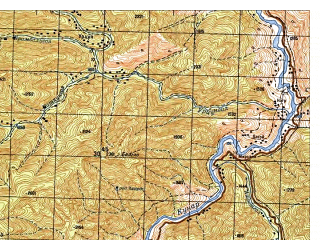 Reduced fragment of topographic map ru--gs--050k--i42-024-3--N035-30_E071-30--N035-20_E071-45; towns and cities Mirkhani